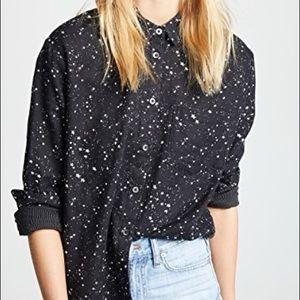 Oversized Ex-Boyfriend Shirt in Star Print